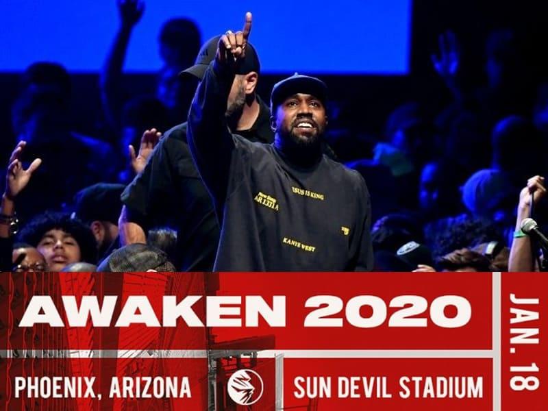 Kanye West Brings Sunday Service On Awaken 2020 Among Other Christian Influencers