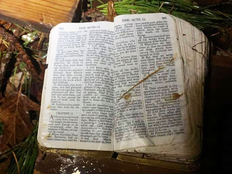 An Unharmed Bible Is Found After Tornado And It's Opened To An Incredible Verse