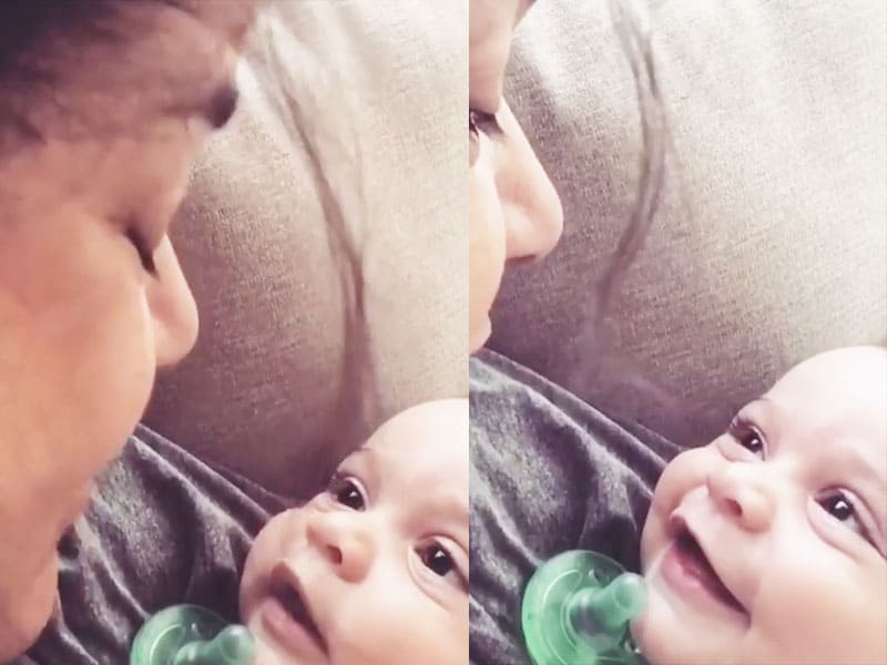 Mother Sings 'Give Me Jesus' And Baby's Reaction Is Amazing
