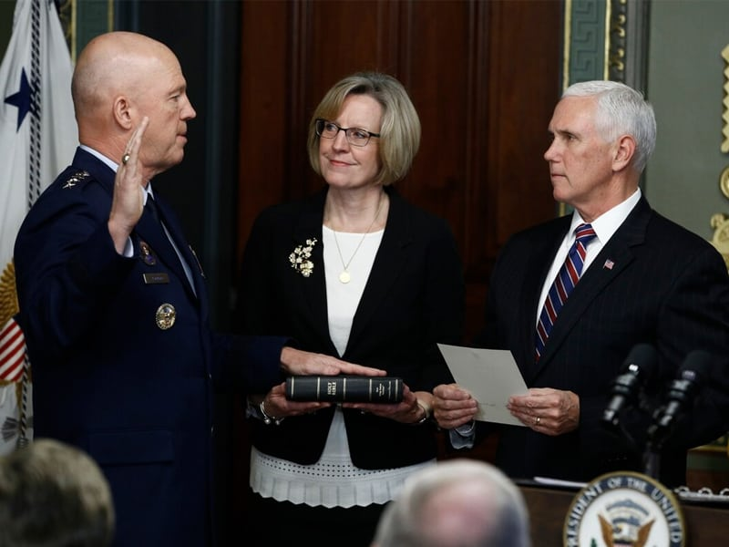 Atheist Group Condemns Newly Formed Space Forces' Swearing-In Ceremony
