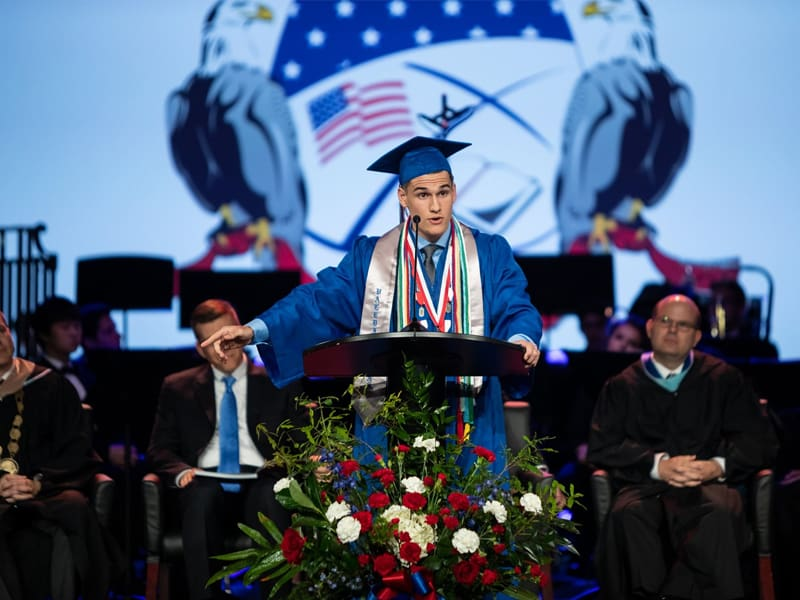 Valedictorian Student Urges Everyone To Do This During His Graduation Speech