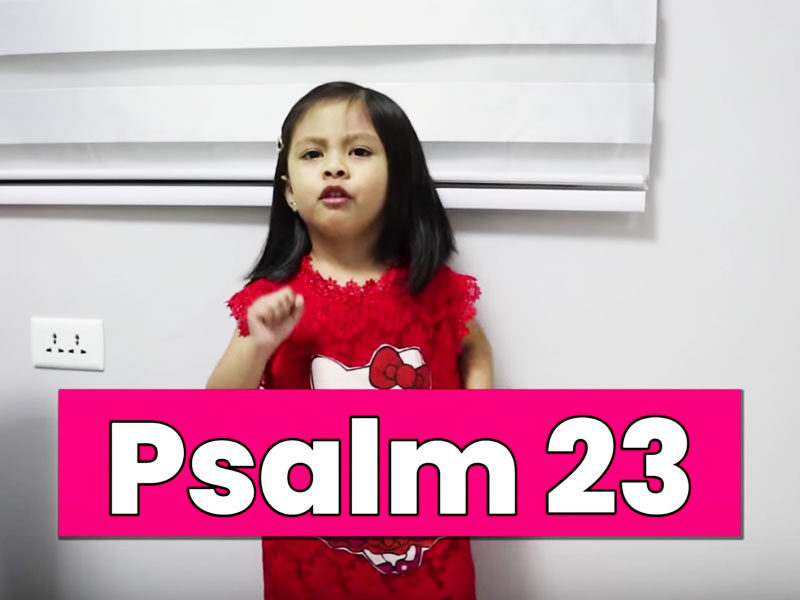 WATCH: 3-Year-Old Recites Every Verse Of Psalm 23