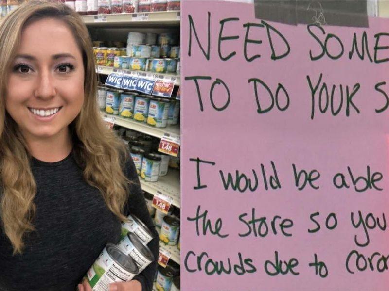 North Carolina Woman Gets Groceries For Older Neighbors To Reduce Risk Of Coronavirus