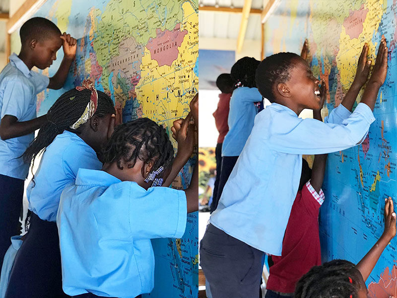 Children In Africa Fervently Pray Against COVID-19; Lay Hands On World Map