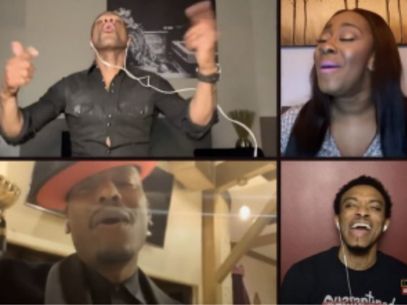 Kirk Franklin With Fantasia, Tyrese and Kelly Price Give A Virtual Performance Of 'I Smile'
