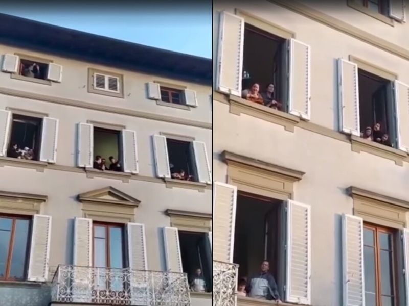Neighborhood In Italy Sings 'How Great Is Our God' From Their Windows