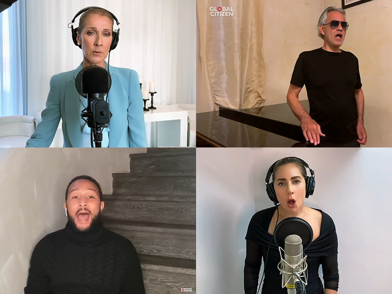 Lady Gaga, Celine Dion, Andrea Bocelli And John Legend Renders Virtual Performance Of 'The Prayer'