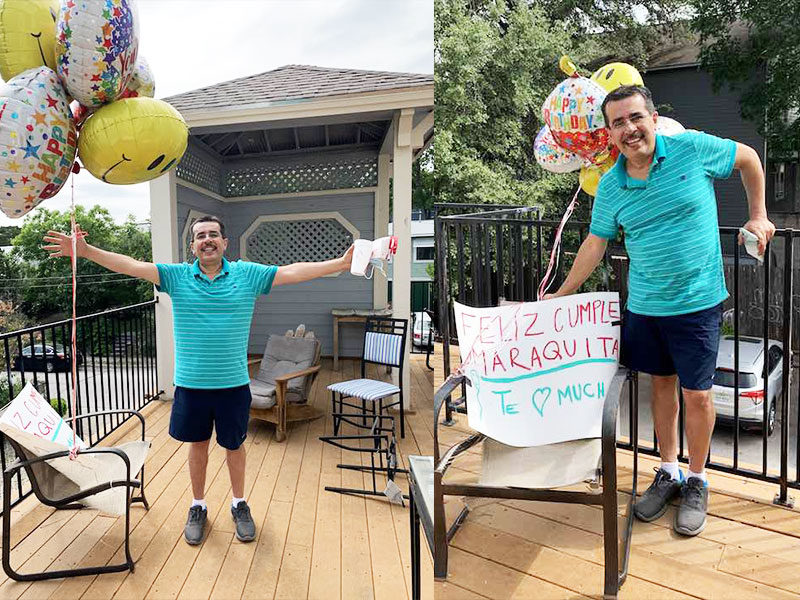 Dad Drives 1,100 Miles To Surprise Daughter With Best Social Distancing Birthday