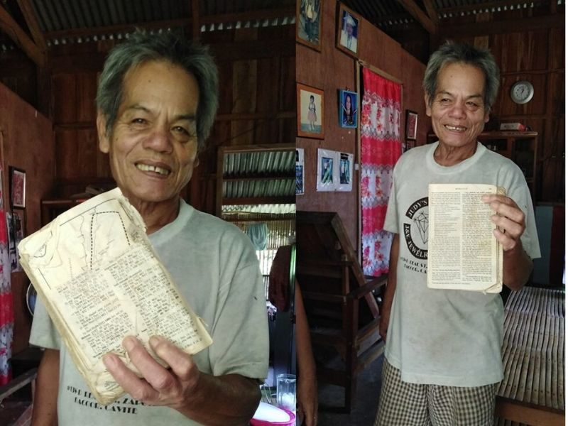 Elderly Man Asks For A New Bible Instead Of Relief Goods