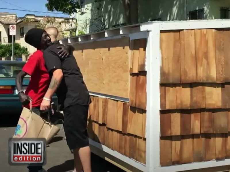 Man Builds A Mini Home For A Homeless Elderly Woman