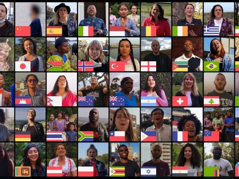 50 Countries Affected By The Pandemic Sings 'Amazing Grace' To Spread The Gospel