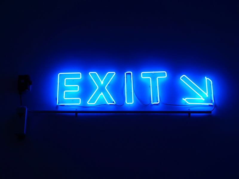 Don't rush for the exit!