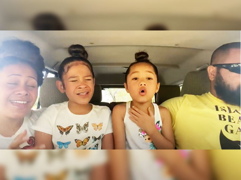Little Girls' A Capella Version Of 'Waymaker' With Their Parents Is Beautiful!