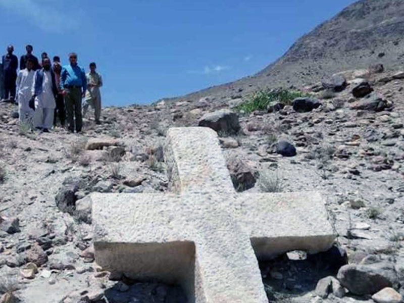 1,200-Year-Old Huge Cross Discovered In Pakistan Hints Christianity Was There 'Before Islam Came'