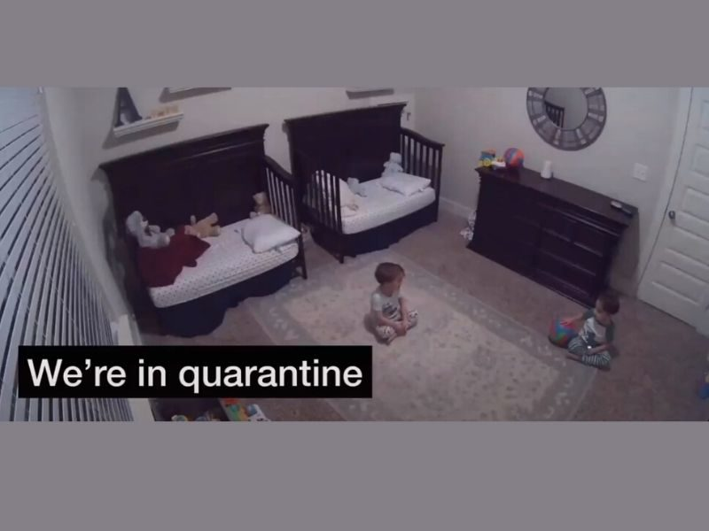 3-Year-Old Twins Discuss Being In Quarantine Is So Cute