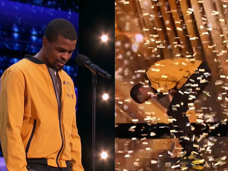 AGT's First-Ever Spoken Word Artist Gets The Golden Buzzer For Emotional Tribute To His Late Sister