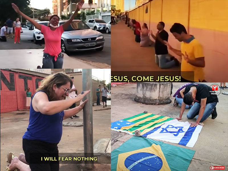 Christians In Brazil Knelt On The Streets To Pray For Relief From COVID-19