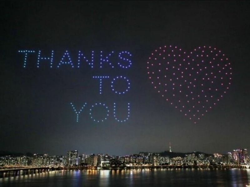 South Korea Pays Tribute To Medical Heroes With A Drone Light Show