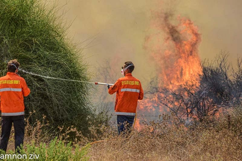 Arson Terrorism Ignites 21 Fires In Israel's South