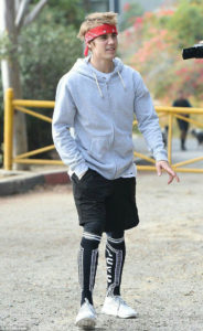 Justin Bieber spotted in Los Angeles