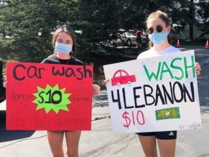 Massachusetts Church Youth Group Raises Thousands Of Dollars For Beirut Relief Through Car Washing