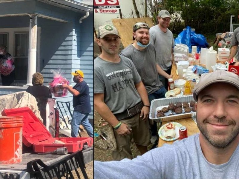 Electrician Leads Community To Repair 72-Year-Old Lady's Crumbling House
