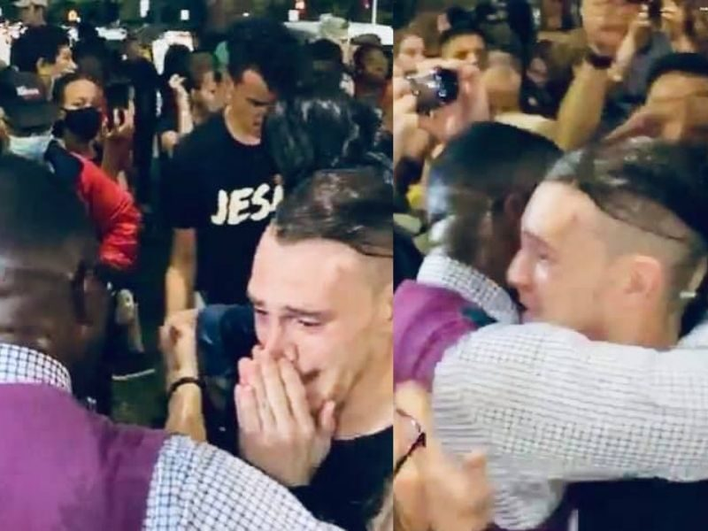 Angry Protestor Aims To Disrupt Worship Event But Encounters God's Love Instead