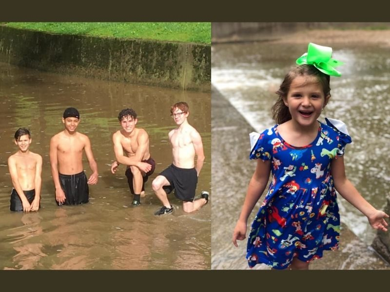 4 Brave Boys Save Drowning Little Girl From Strong Rushing Waters