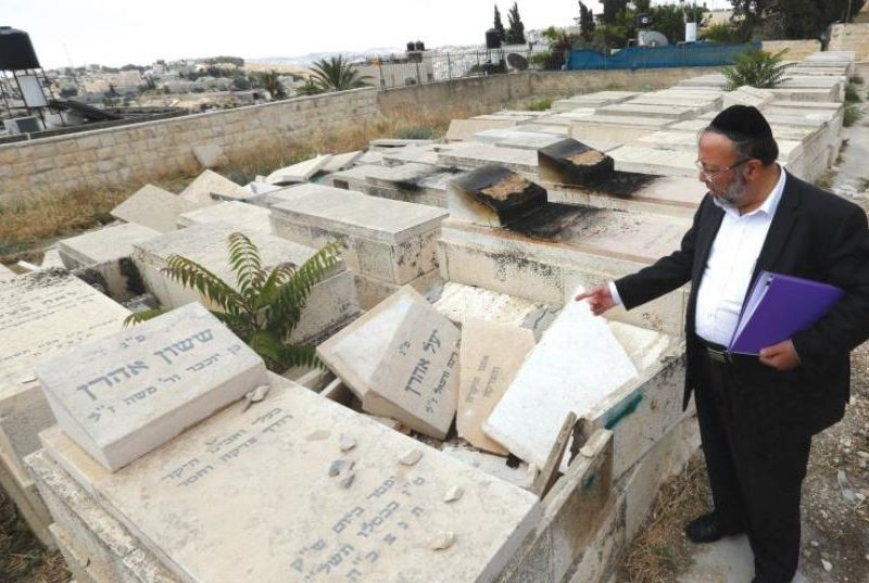 Police Arrests Arab For Desecration Of Jewish Graves On Mount Of Olives