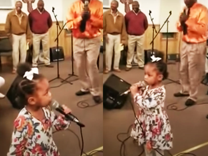 2-Year-Old Stands In Pulpit With Church Music Team And Leads Worship