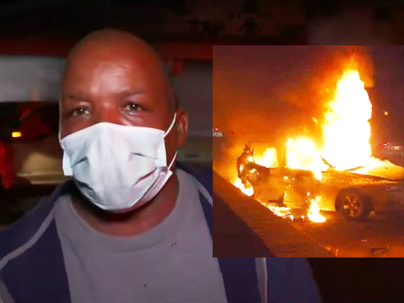 Man Says 'It Was God's Work' After Two Women Rescued Seconds Before Car Exploded