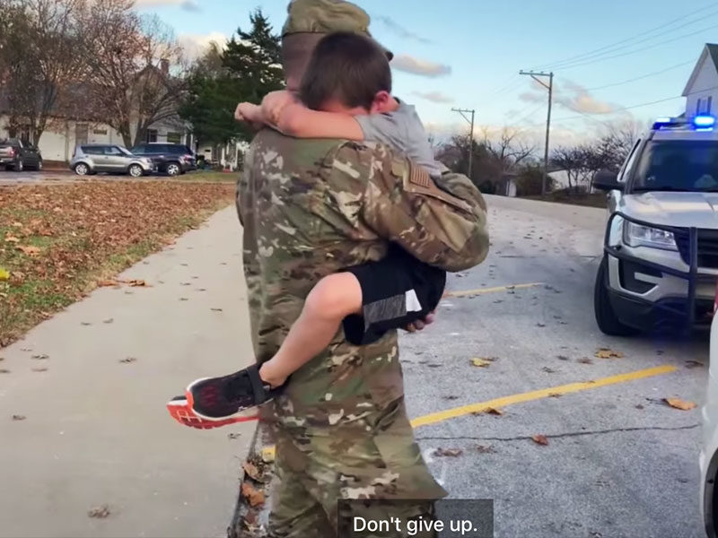 Missouri Deputy And Son In Emotional Reunion After 4-Month Deployment In Afghanistan