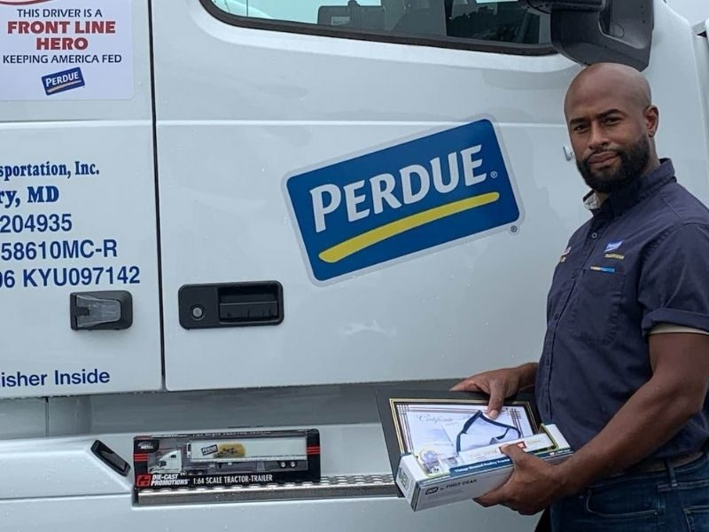Perdue Farms Truck Driver Rescues Toddler Ejected From Car