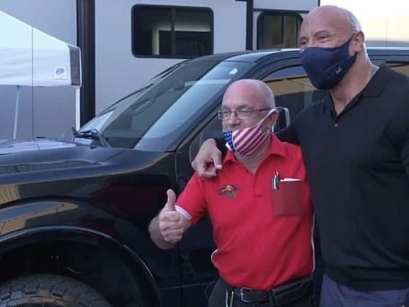 Dwayne Johnson Gifts New Truck To Man Who Took Him In When He Was Homeless
