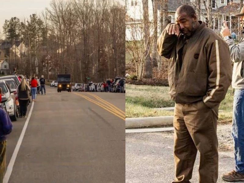 UPS Driver Moved To Tears As Neighborhood Celebrates His Life For Being A Positive Frontliner