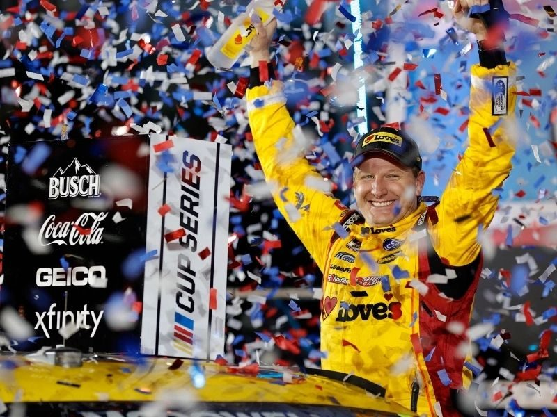 Michael McDowell Praises The Lord After Daytona 500 Victory