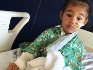 A mom credits God for saving her daughter's life