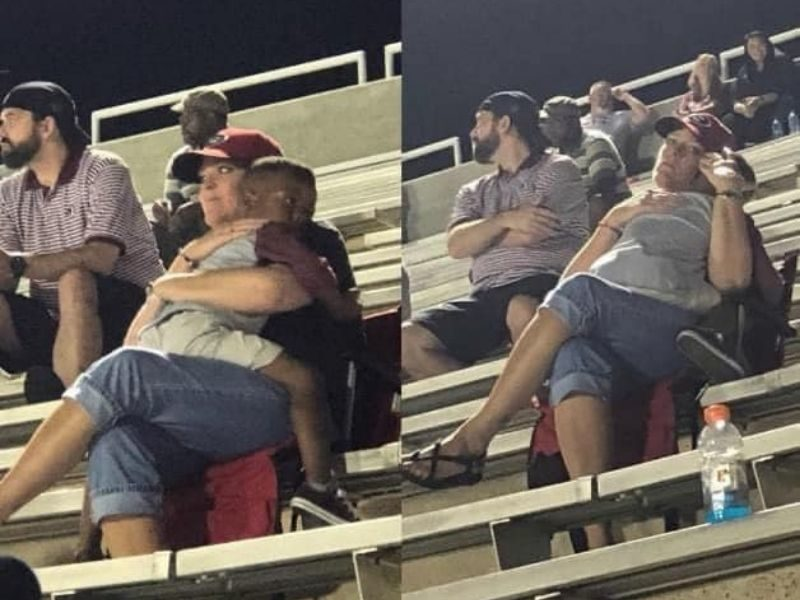 Photo Of Woman And Child During A Football Game Speaks Powerful Message