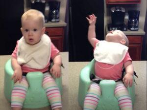 Baby girl worships