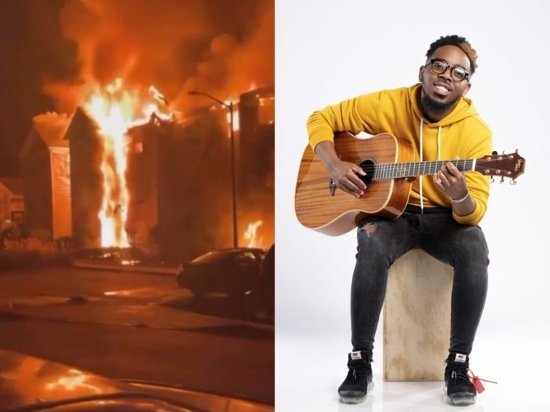 Worship Artist Chandler Moore Worships Jesus After Fire Burned His Whole House