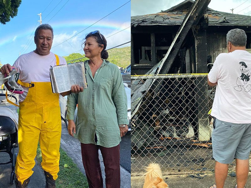 Family Praises God After Finding Bible Unscathed And Losing Everything To House Fire