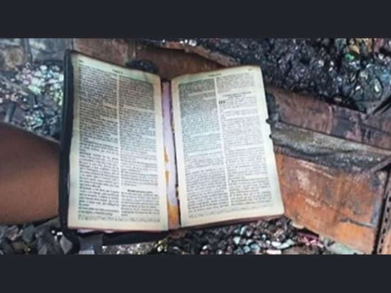 Employees Find Unscathed Bible After Fire Burned Warehouse For 12 Hours