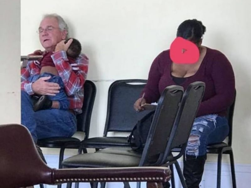 Elderly Man Asks To Hold A Sleeping Baby, Touching Scenario Breaks Status Quo