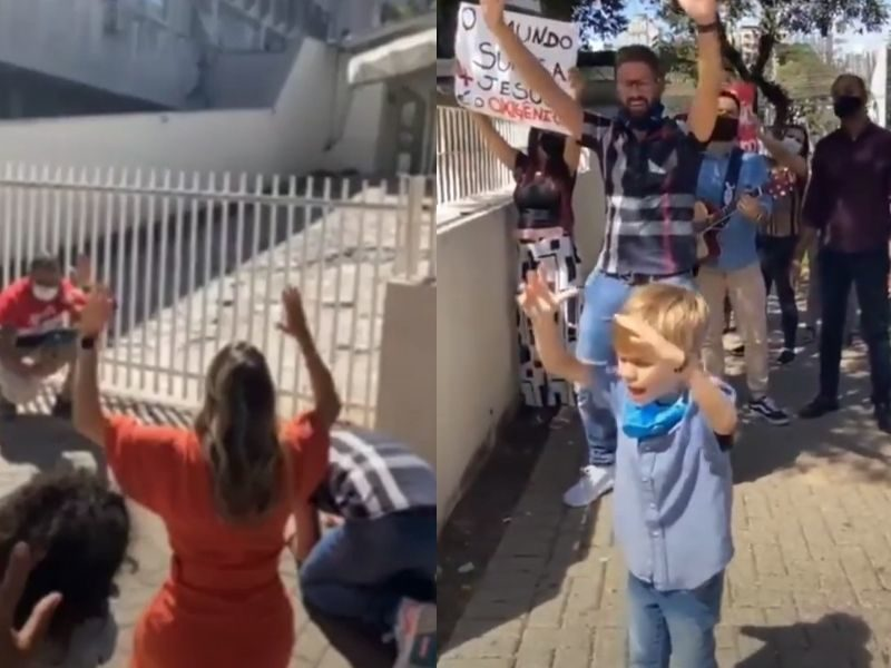 Triplet Kids Went Viral As They Prayed In Front Of Hospital For COVID-19 Patients