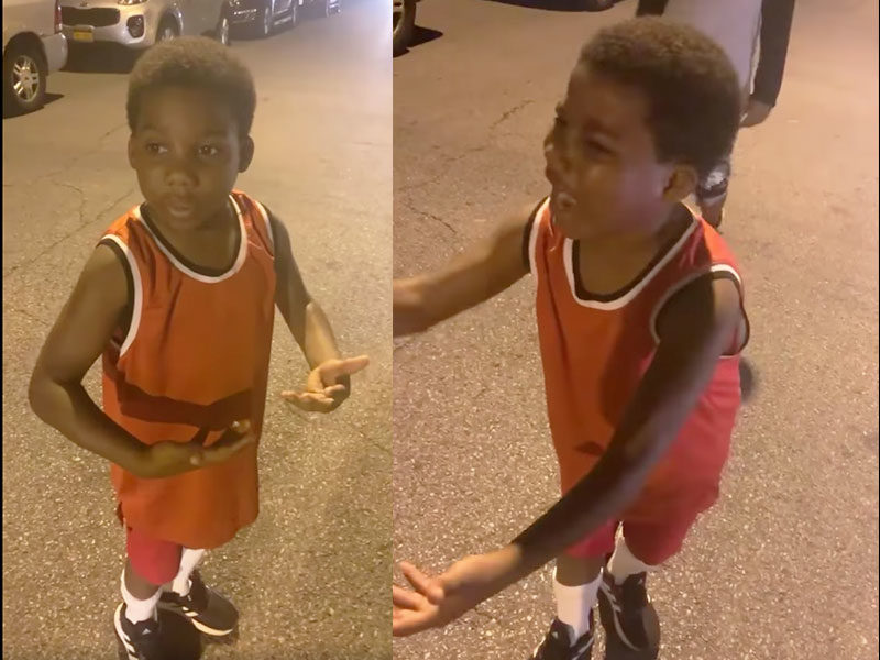 Caught On Cam: 10-Year-Old Boy Preaches On The Street