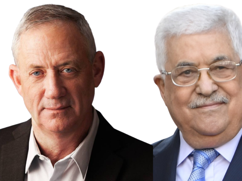 Israel's Defense Minister Gantz Meets In Person With Palestinian Leader Abbas